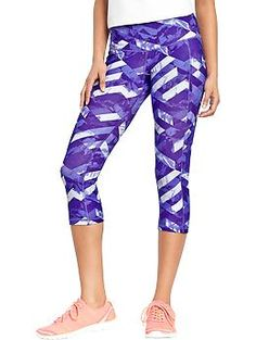 """Women's Old Navy Active Patterned Compression Capris (20"""") 