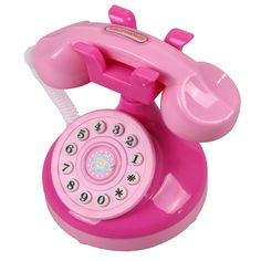 New Educational Educational Pink Phone Pretend Play Toys Girls Toy Phone Children Gifts FCI# * Pub Date: Feb 13 2017 Little Girl Toys, Cool Toys For Girls, Baby Toys, Kids Toys, First Birthday Gifts Girl, Girls Playhouse, Barbie Doll Set, Electronic Toys, Pink Gifts
