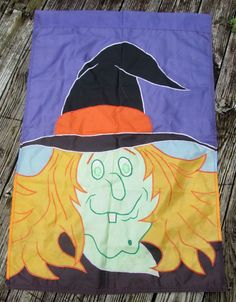 Wicked Witch Outdoor Garden Holiday Flag Banner Halloween Autumn Fall Home Decor #Halloween