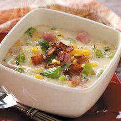Ham and Corn Chowder Recipe