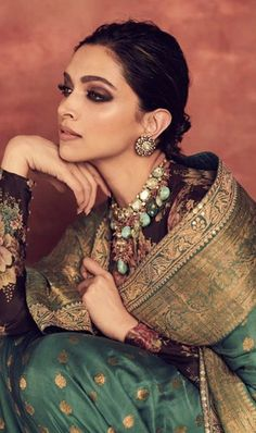 Deepika Padukone Looks Royal As She Decks Up In Sabyasachi Saree For Reliance Foundation 10 Year Anniversary - HungryBoo Deepika Padukone Saree, Shraddha Kapoor, Ranbir Kapoor, Priyanka Chopra, Anushka Sharma, Indian Dresses, Indian Outfits, Indian Attire, Indian Clothes
