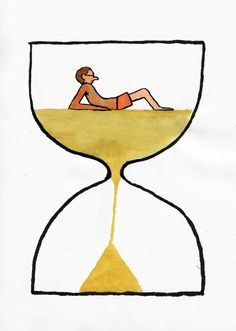 Jean Jullien - TIME, Holiday time is running out.