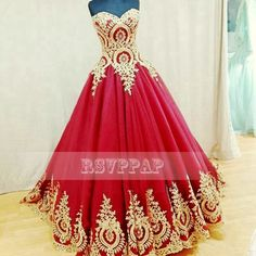 Find More Evening Dresses Information about Real Photos Red Evening Dresses Long 2016 Sweetheart Neck Gold Appliques Lace A line Women Formal Evening Gowns,High Quality gowns online,China lace jacket wedding gown Suppliers, Cheap lace sleeve bridal gown from Rsvp Prom and Pageant on Aliexpress.com