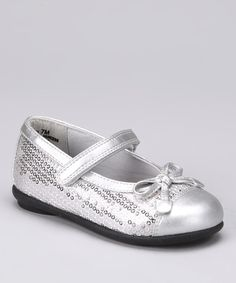 Take a look at this Rachel Shoes Silver Sequins Lil Princess Mary Jane - Kids by Festive Finery: Kids' & Women's Shoes on #zulily today!  $16.99