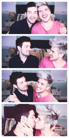 I am so dang happy for them <3<3 Joey Graceffa and Daniel Christopher Preda