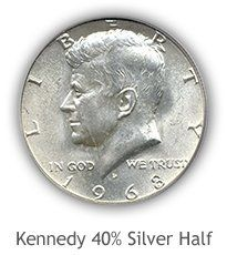 Kennedy 40% Silver Half Dollar Values | Coin Collecting