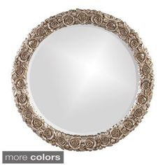 The item for sale is the Howard Elliott Rosalie Silver Leaf Mirror. Our Rosalie Mirror finished in an Antique Silver Leaf displays a Rosette pattern around perimeter of frame. Material is Resin. Big Vases, Gold Vases, White Vases, Kids Mirrors, Framed Mirrors, Round Mirrors, Mirror Mirror, Art Nouveau, Verre Design