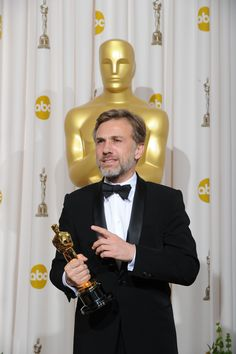 "Academy Awards® ~ Christopher Waltz won the Best Supporting Actor Oscar® for his performance in ""Django Unchained"" (Won 2 Oscars. Another 77 wins & 24 nominations) Academy Award Winners, Oscar Winners, Academy Awards, Christoph Waltz, Best Actor Oscar, Old Movie Stars, Best Supporting Actor, The Villain, Hollywood Celebrities"