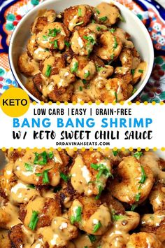 This is a recipe for Bang Bang Shrimp that is grain-free, low carb, keto-friendly and does not use added sugar. I include a quick recipe for the Sweet Thai Chili Sauce, an essential part of Bang Bang Sauce. Keto Dinner Recipes for Rapid Weight Loss Ketogenic Recipes, Diet Recipes, Cooking Recipes, Healthy Recipes, Slimfast Recipes, Paleo Food, Paleo Diet, Paleo Meals, Healthy Chef
