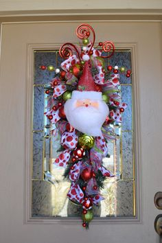 Botín de caprichosa puerta de Santa por kristenscreations en Etsy