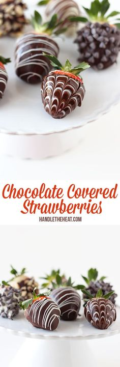 How to make BEAUTIFUL Chocolate Covered Strawberries! So fun and romantic!