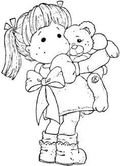 Fofas e lindas bonecas Magnólia para colorir, pintar, imprimir! Moldes e riscos de boneca Magnólia! - Espaço Educar desenhos para colorir