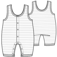 Fashion Sewing Patterns for Professionals Fashion Sewing, Kids Fashion, Babies Fashion, Baby Patterns, Sewing Patterns, Fashion Sketch Template, Baby Dungarees, Flat Sketches, Baby Sewing Projects