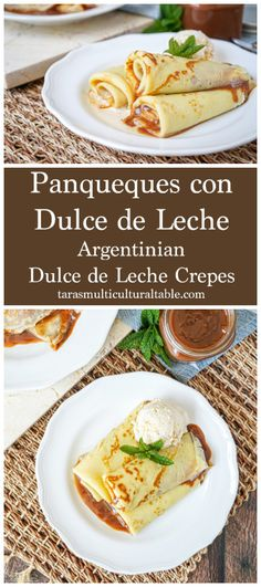 Panqueques con Dulce de Leche (Argentinian Dulce de Leche Crepes)- Tara's Multicultural Table- Light crepes are filled with a layer of dulce de leche for quite the decadent breakfast or dessert.
