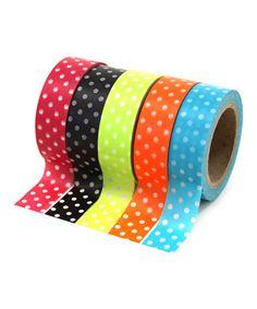Look at this #zulilyfind! Polka Dot Tape Set #zulilyfinds