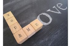 Wedding Personalized Wood Blocks  You & Me  by TheLonelyHeart, $10.00