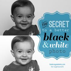 The secret to a better black & white photo. Drastically improve the look of your black and white photos with this one easy tip!