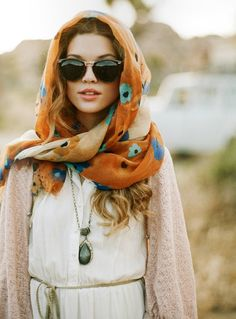 love how she pulls off that shawl without necessarily looking Middle Eastern