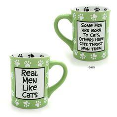 Real Men Like Cats Mug