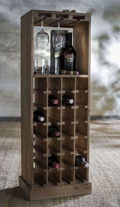 Wine Rack Bar, Wine Rack Storage, Rustic Wine Racks, Corner Wine Bar, Home Bar Cabinet, Wine Cellar Design, Bar Furniture, Repurposed Furniture, Interior Design
