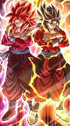 Gogeta & Vegito By: Migimimi - Katana Dragon Ball Gt, Dragon Ball Image, Image Dbz, Goku E Vegeta, Foto Do Goku, Gogeta And Vegito, Gogeta Super Saiyan 4, Dragonball Evolution, Goku Wallpaper