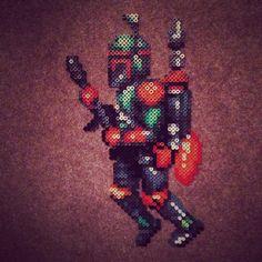 Boba Fett Star Wars perler sprite by caveofpixels