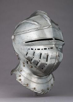 The Met: Arms and Armor Medieval Knight, Medieval Armor, Medieval Drawings, Medieval Helmets, Knights Helmet, Renaissance Era, Knight Armor, Arm Armor, Metal Engraving