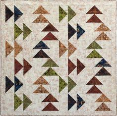 Island Batik Geese in the West Quilt Kit 64 x 64