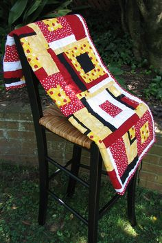 Children's Ladybug Patchwork Quilt by Thread and Patch. $170.00, via Etsy.