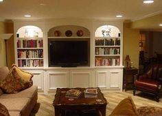 Picture of Basement Designs Gallery | cool-basement-room-design-modern-home-library picture, Home Ideas ...