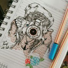 Photo  drawing  amo... Meu passa tempo!