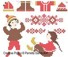 Getting dressed cross stitch pattern by Perette Samouiloff