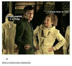 Basically the Doctor and River's relationship