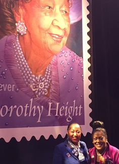 "Zeta Phi Beta Sorority, Incorporated was represented at the First-Day-of-Issue Dedication Ceremony for a US ""Forever"" postage stamp for Dr. Dorothy Irene Height. Dr. Height was a trailblazer for women's rights, especially women of color, and served as the president of the National Council of Negro Women (NCNW) for 40 years. Zeta is an active affiliate of the NCNW"