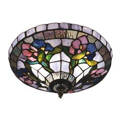 Shop Dale Tiffany  7096/3LTF Floral 3 Light Hollyhock Flush Mount Ceiling Light at ATG Stores. Browse our flush mount ceiling lights, all with free shipping and best price guaranteed.