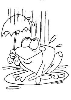 Weather - Free printable Coloring pages for kids Easy Coloring Pages, Animal Coloring Pages, Free Printable Coloring Pages, Coloring Pages For Kids, Coloring Sheets, Adult Coloring, Coloring Books, Kids Coloring, Wildflower Drawing