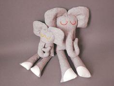SALE Elephant and Baby  Plush Softie by jipijipi on Etsy, €33.00