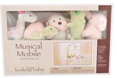 Koala Baby Forest Friends Pink and Green Musical Mobile Baby Brahms' Lullaby #KoalaBaby