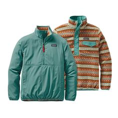Patagonia Women's Reversible Snap-T® Glissade Pullover Patagonia Outfit, Patagonia Pullover, Patagonia Jacket, Burberry Coat, Western Outfits, Western Wear, Surfergirl Style, Outfits For Teens, Cool Outfits