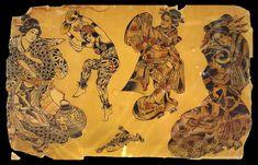 Vintage Tattoo Design, Vintage Designs, Tattoo Museum, Old School Tattoo Designs, City Tattoo, Traditional Tattoo Flash, Vintage Flash, American Traditional, Tattoo Drawings