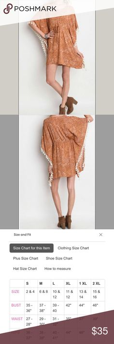 Host Pick Casual Tassel Boho Dress Casual dress with a cute side fringe. Drawstring waist is forgiving if you gain or lose a few pounds.  60%cotton 40%polyester.  The price is firm unless bundled. Umgee Dresses
