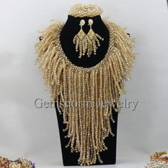 handmade African beads jewelry set,add me on whatsapp to African Earrings, African Beads, African Jewelry, Crystal Bead Necklace, Crystal Beads, Beaded Jewelry, Necklace Set, Beaded Necklaces, Gold Jewelry