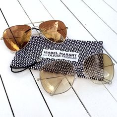 Isabel Marant x Oliver Peoples Sunglasses Very excited for French designer Isabel Marant's first collection of sunglasses in collaboration with USA's Oliver Peoples. #IsabelMarant #OliverPeoples