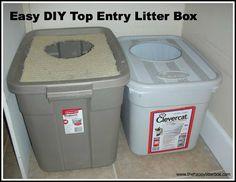 Easy DIY Top Entry Litter Box