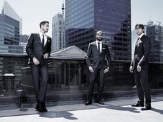 A cut above: Paris St Germain players Lucas Moura, Maxwell Scherrer and Kevin Trapp wear BOSS tailoring for GALA France. Photo by Rasmus Mogensen. #thisisboss #bosssports