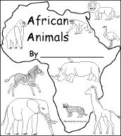 * print out of an animal book the kids can color (and asante can practice writing on the lined part)