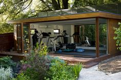An eco garden room can make a perfect space for exercise with the large windows providing lovely views to look out on. http://www.tgescapes.co.uk/garden/garden-gyms