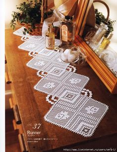 Crochet: tablecloth filet