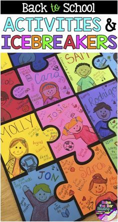 Back to School Activities - Fun, Ready to Go Worksheets, Back to School Bingo This classroom puzzle display is one of many back to school activities included in this fun pack of back to school ideas :) Perfect back to school craftivity to get to know your First Day Of School Activities, 1st Day Of School, Beginning Of The School Year, Back To School Art, Back To School Bulletin Boards, Back To School Ideas For Teachers, September Bulletin Boards, Back To School Crafts For Kids, Middle School