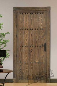 Catálogo Puertas Rústicas de Interior | Puertas Innova S.L.U Old Wood Doors, Rustic Doors, Wooden Doors, Grill Door Design, Main Door Design, Pallet Door, Doors Galore, Iron Gate Design, Interior Sliding Barn Doors